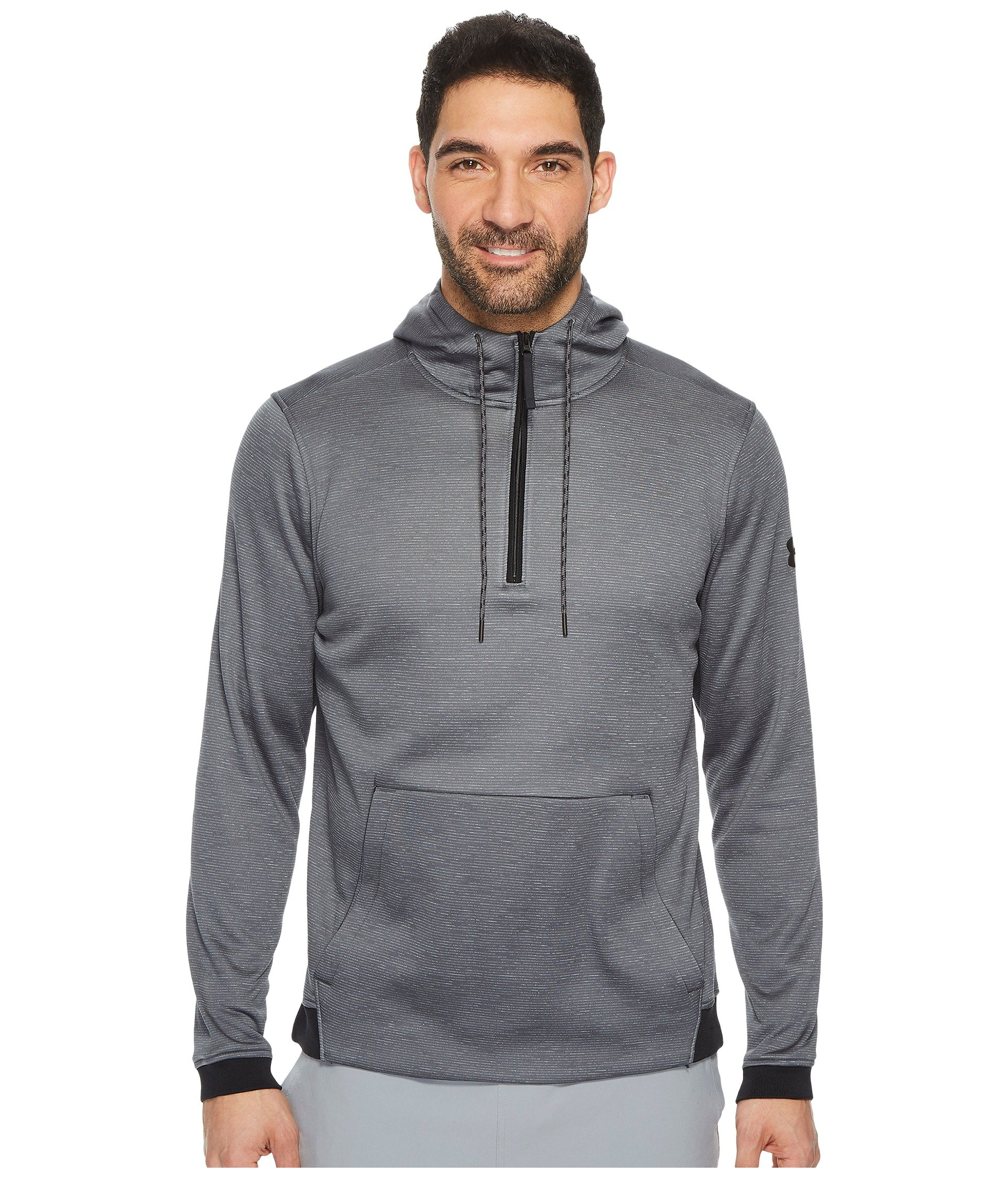 Men's Under Armour Armour Fleece Icon 1/4 Zip PO Hoodie, Rhino Grey, X-Small