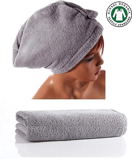 Seventex Toalla y toallas saludables, toalla de pelo de algodón ...
