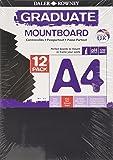 Daler Rowney Black A4 Graduate Mountboard (Pack of 12)