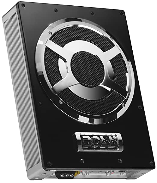 Boss Audio BASS800 8-Inch Amplified Subwoofer with Passive Radiator - Single (Black) <span at amazon