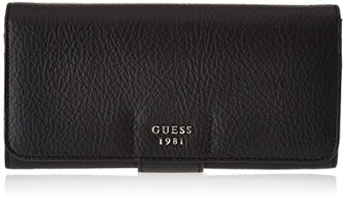 Guess - Slg Wallet, Carteras Mujer, Negro (Black), 2x10x20 cm (