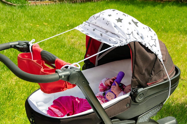 Amilian Sonnensegel f/ür jeden Kinderwagen universal UV-Sonnenschutz f/ür Baby luftdurchl/ässig Rosa Schwarz