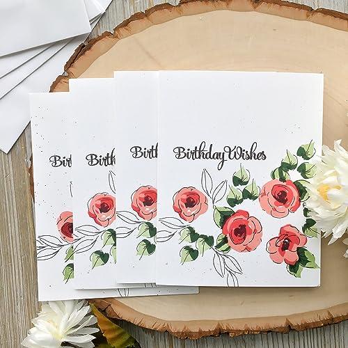 Birthday Card Handmade Set Of 4 For Mom Grandma Roses