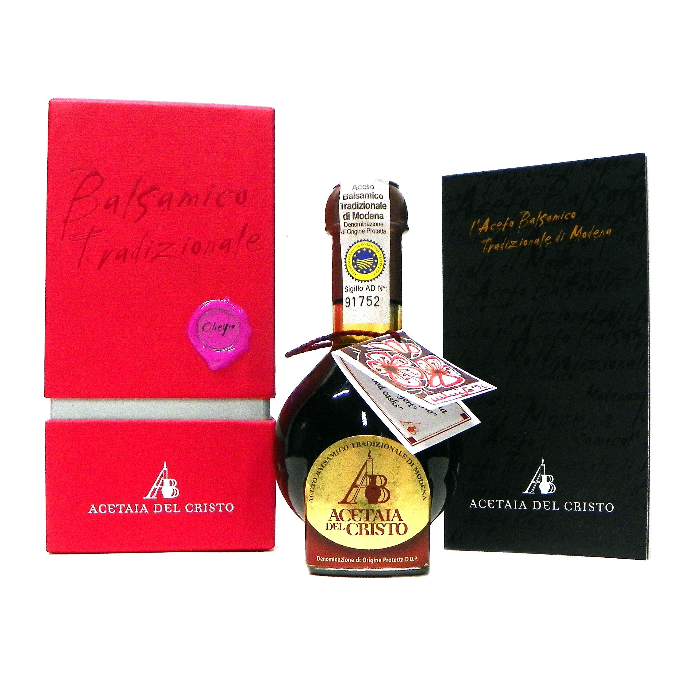 Acetaia Del Cristo Traditional Balsamic Vinegar of Modena Aged in Cherry Wood Barrels DOP 100 ml 12 years or more