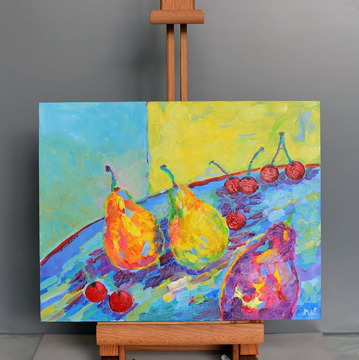 Amazon.com: Funny Kitchen Wall Art Still Life Food Painting Fruit ...