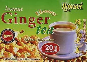 Honsei Instant Ginger Honey Tea, 40 Count