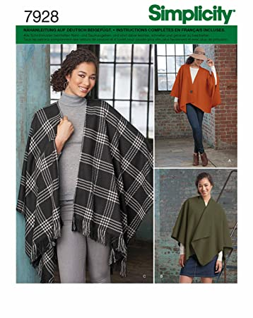 Simplicity 7928,OS Schnittmuster Poncho (Damen, Gr, One Size ...