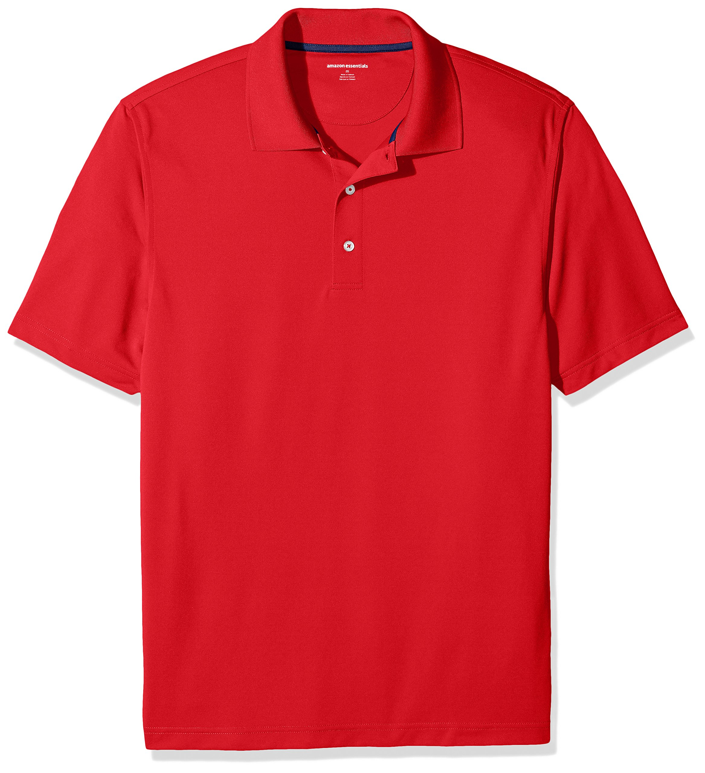 Amazon Essentials Men's Regular-Fit Quick-Dry Golf Polo Shirt, Red, Small by Amazon Essentials