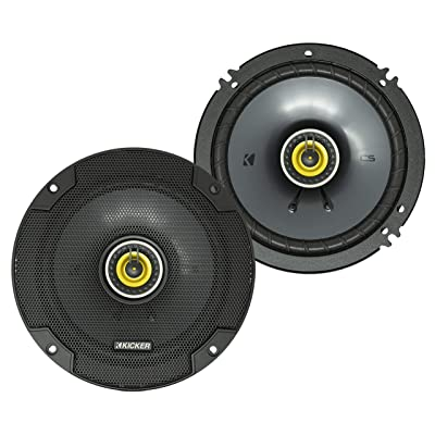 KICKER CS Series CSC65 6.5 Inch Car Audio Speaker with Woofers, Yellow (2 Pack): Automotive