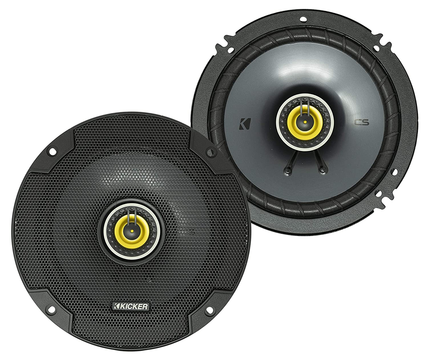 "Kicker 46CSC654 Car Audio 6 1/2"" Coaxial Full Range Stereo Speakers Pair CSC65"