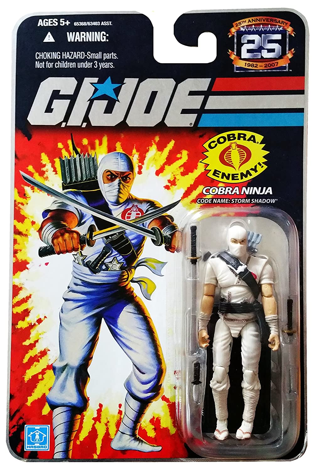 Gi Joe 25th White Logo Destro The Enemy 3 3//4 Action Figure Package