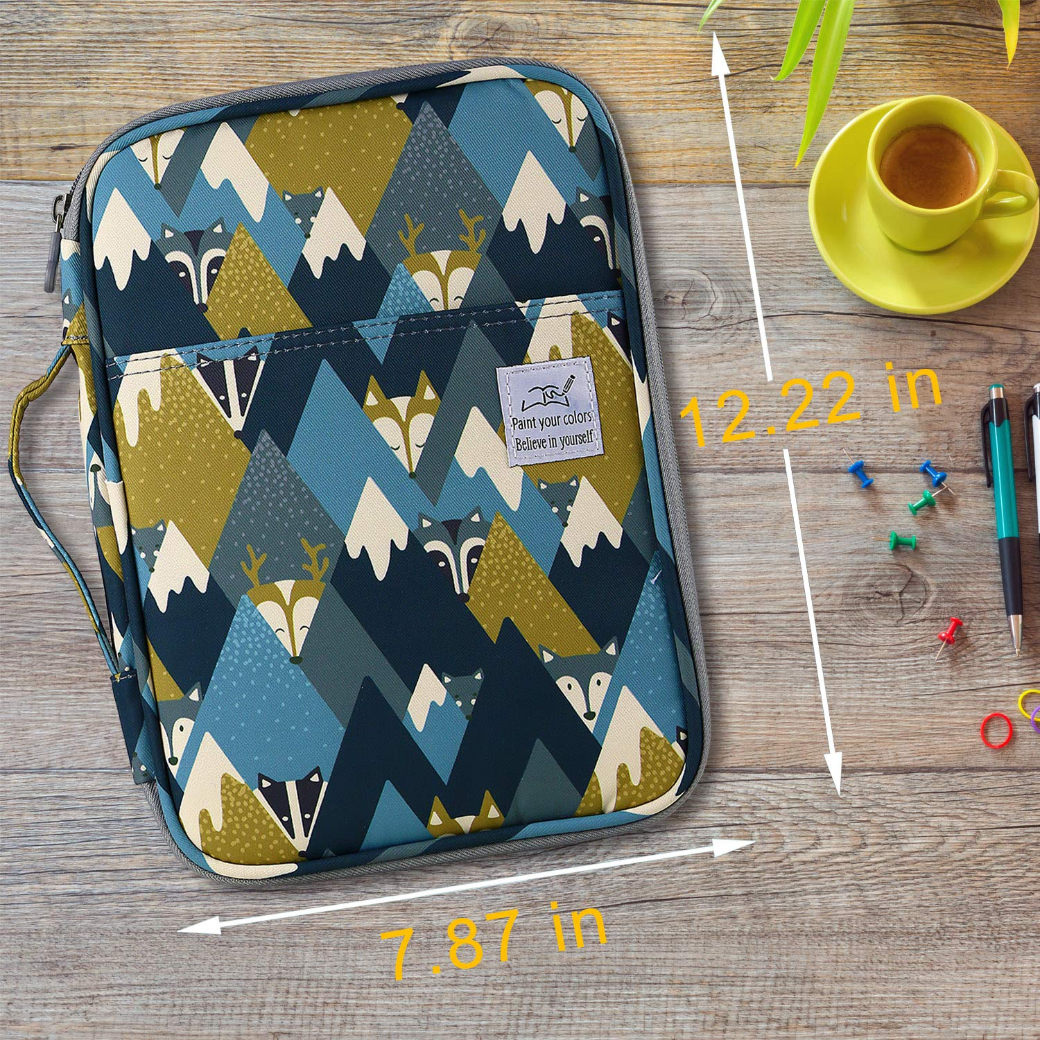 Gel Pens for Student /& Artist Big-Faced Cat Large Capacity Pencil Holder Pen Organizer Bag with Zipper for Prismacolor Watercolor Coloring Pencils YOUSHARES 96 Slots Colored Pencil Case