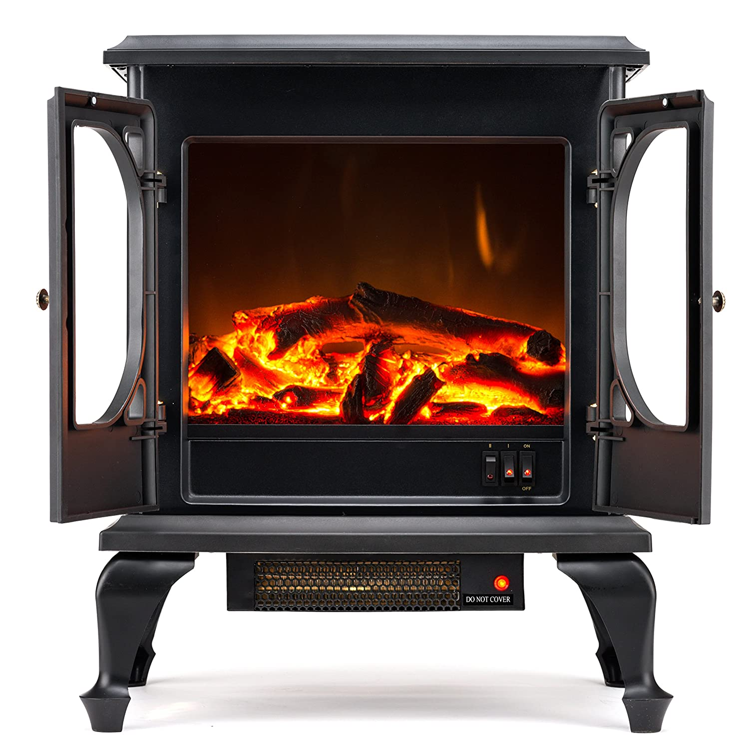 Amazon.com: Townsend Free Standing Electric Fireplace Stove - 24 ...