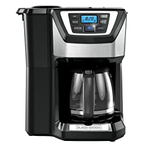 Black and Decker 12-Cup Mill & Brew Coffeemaker CM5000RD