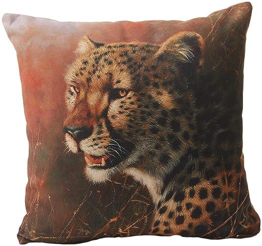 Jute & Co. Tiger - Cojín Estampado, 100% algodón, Talla ...