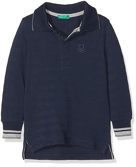 United Colors of Benetton L/s Polo Shirt, Azul (Blue 13c), 92 ...