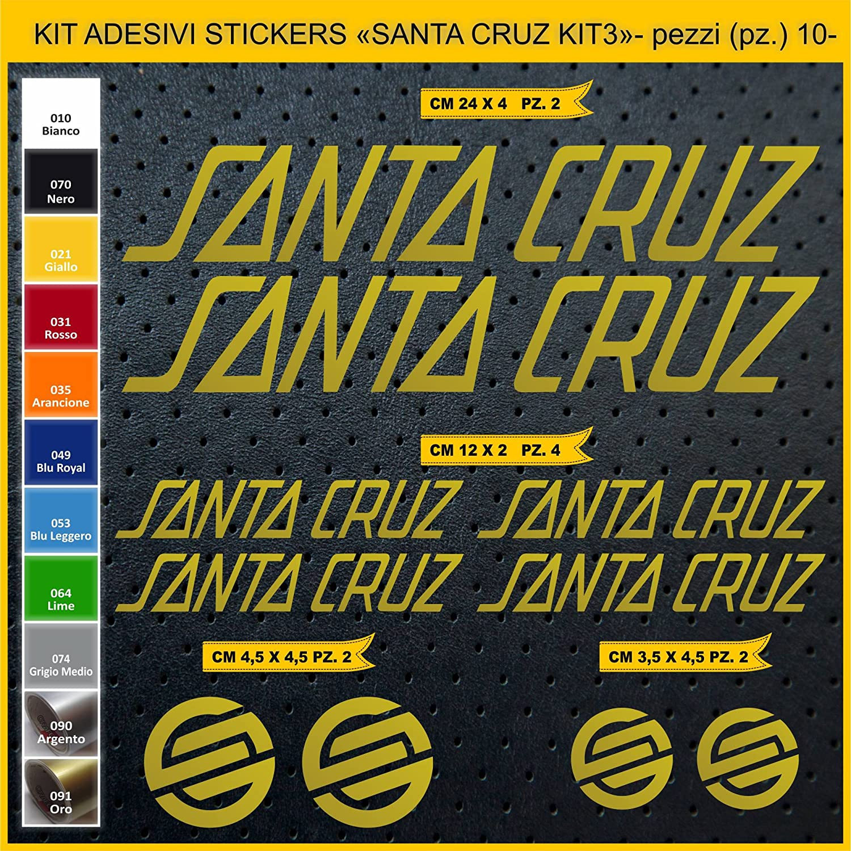 Kit Pegatinas Stickers Bicicleta Santa Cruz -Kit 3-10 Piezas- Bike Cycle Cod. 0893 (091 Oro): Amazon.es: Deportes y aire libre