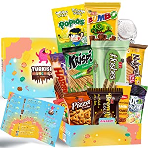 Adventurous Midi Premium International Snacks Variety Pack Care Package, Ultimate Assortment of Turkish Treats, Mix variety pack of snacks, Best Foreign Candy or Foreign Snacks Box