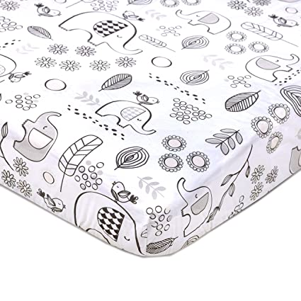 8c0c55572a76d Image Unavailable. Image not available for. Color  Lolli Living 100% Cotton  Crib Fitted Sheet. Kayden Elle Elephant ...