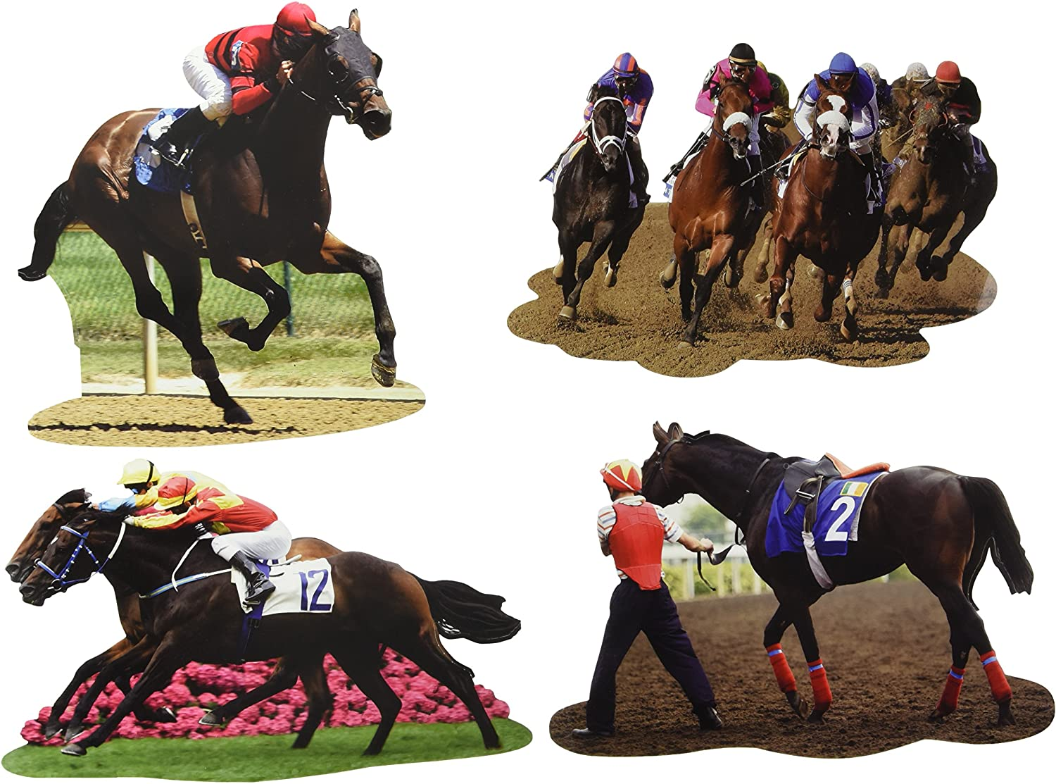 Amazon.com: Derby Day Cutouts (4/Pkg): Kitchen & Dining