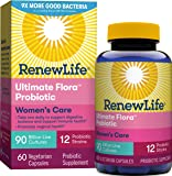 Renew Life Women's Probiotic - Ultimate Flora Women's Care, Probiotic Supplement - Gluten, Dairy & Soy Free - 90 Billion…