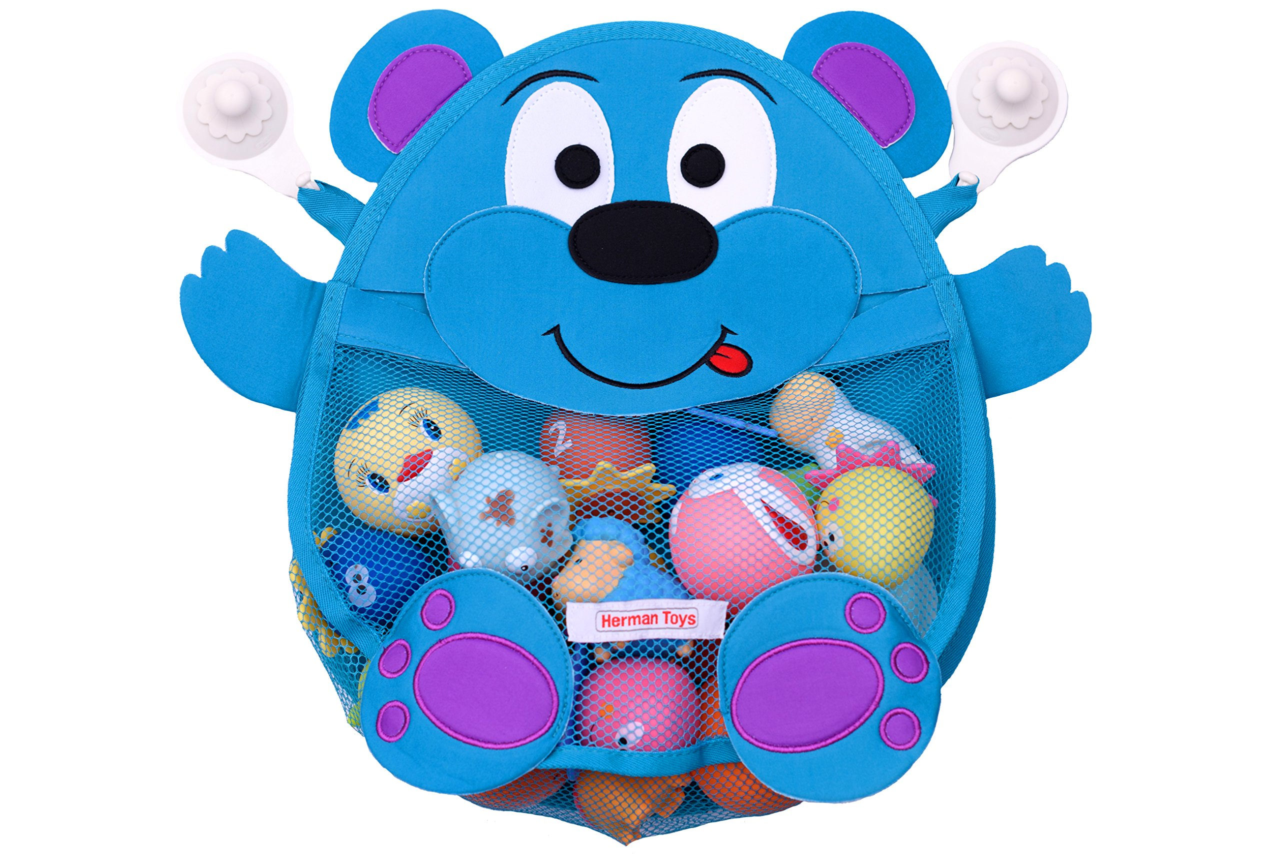 Fashion Baby Bath Cute Bear Toy Organizer Storage Net Toddler Shower ...