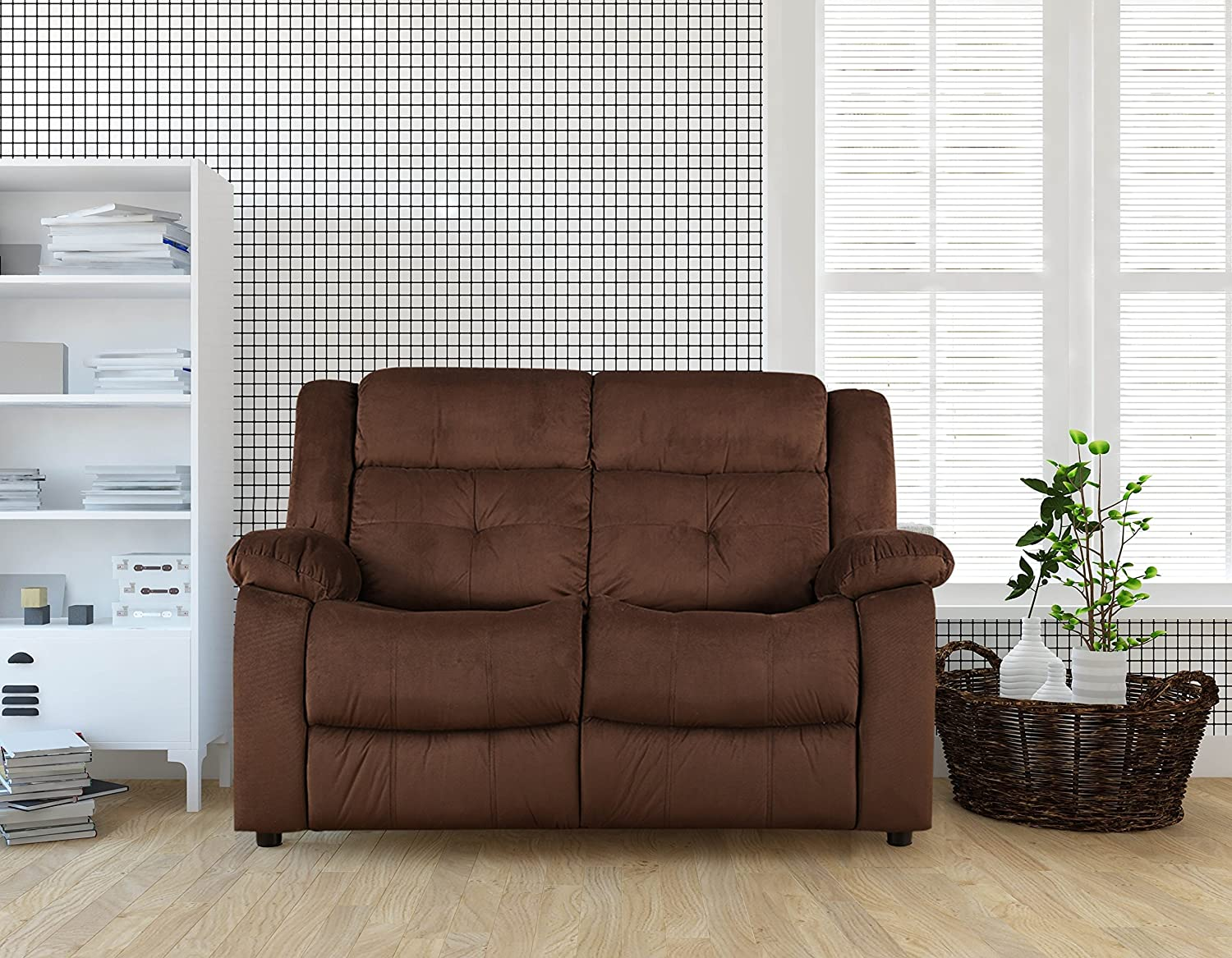 Hometown Christopher Fabric Two Seater Sofa Amazon In Home Kitchen