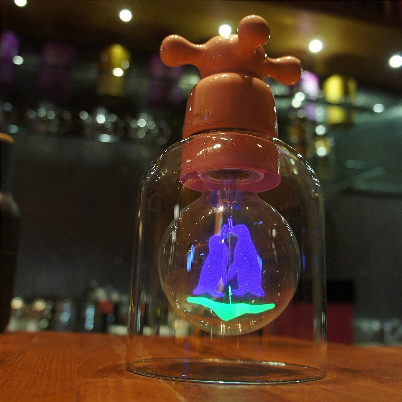 220-240 V Dekorative Gl/ühbirnen diese Leuchten bringen Inspiration ins Dunkel. DarkSteve 3 W brillant und markant Edison Vintage Gl/ühbirne G80 E27-Fassung Puristisch Pinguin Land Gl/ühbirne