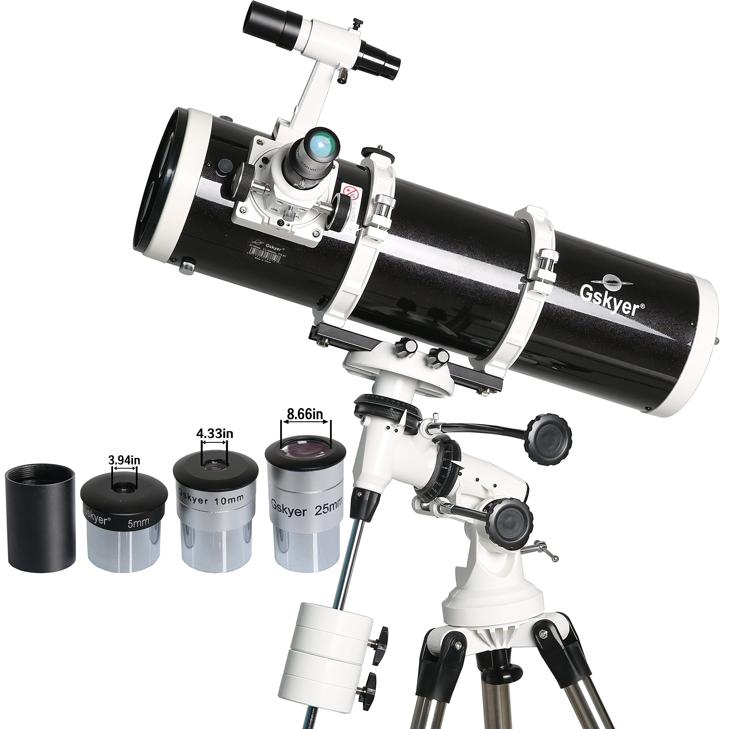 Gskyer Telescope, 130EQ Professional Astronomical Reflector Telescope, German Technology Scope by Gskyer