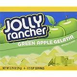 JOLLY RANCHER Green Apple Gelatin Jello 2.79 oz (Pack of 4)