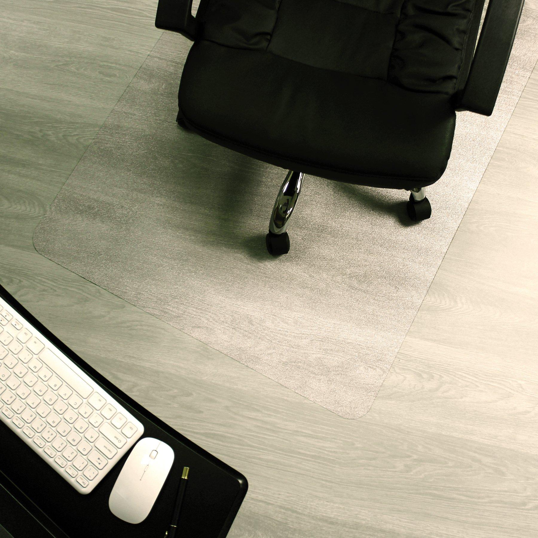 Marvelux 48'' x 60'' ECO (Enhanced Polymer) Rectangular Chair Mat for Hard Floors | Transparent Hardwood Floor Protector | Multiple Sizes
