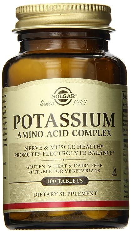 Solgar - potasio complejo (complejo de ácido Amino) - tabletas de 100