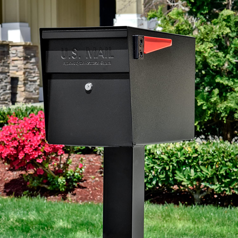 Amazoncom Mail Boss 7106 Curbside Locking Mailbox Black Epoch