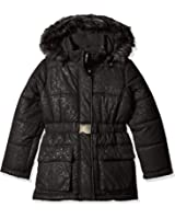 Rothschild Big Girls' Embossed Belted Jacket
