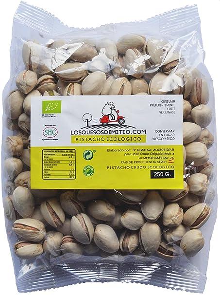 Pistacho Ecológico crudo sin sal añadida, cultivado en España (frutos secos naturales de agricultura