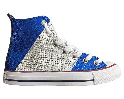 scarpe converse blu elettrico
