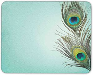 ABin Vintage Background with Peacock Feathers Mouse pad Mouse pad Mouse pad mice pad Mouse pad The Office mat Mouse pad Mousepad Nonslip Rubber Backing