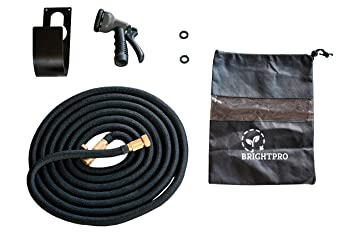 Expandable 50ft Water Hose | Heavy Duty Garden Hose With 8 Setting Spray  Nozzle | Expands