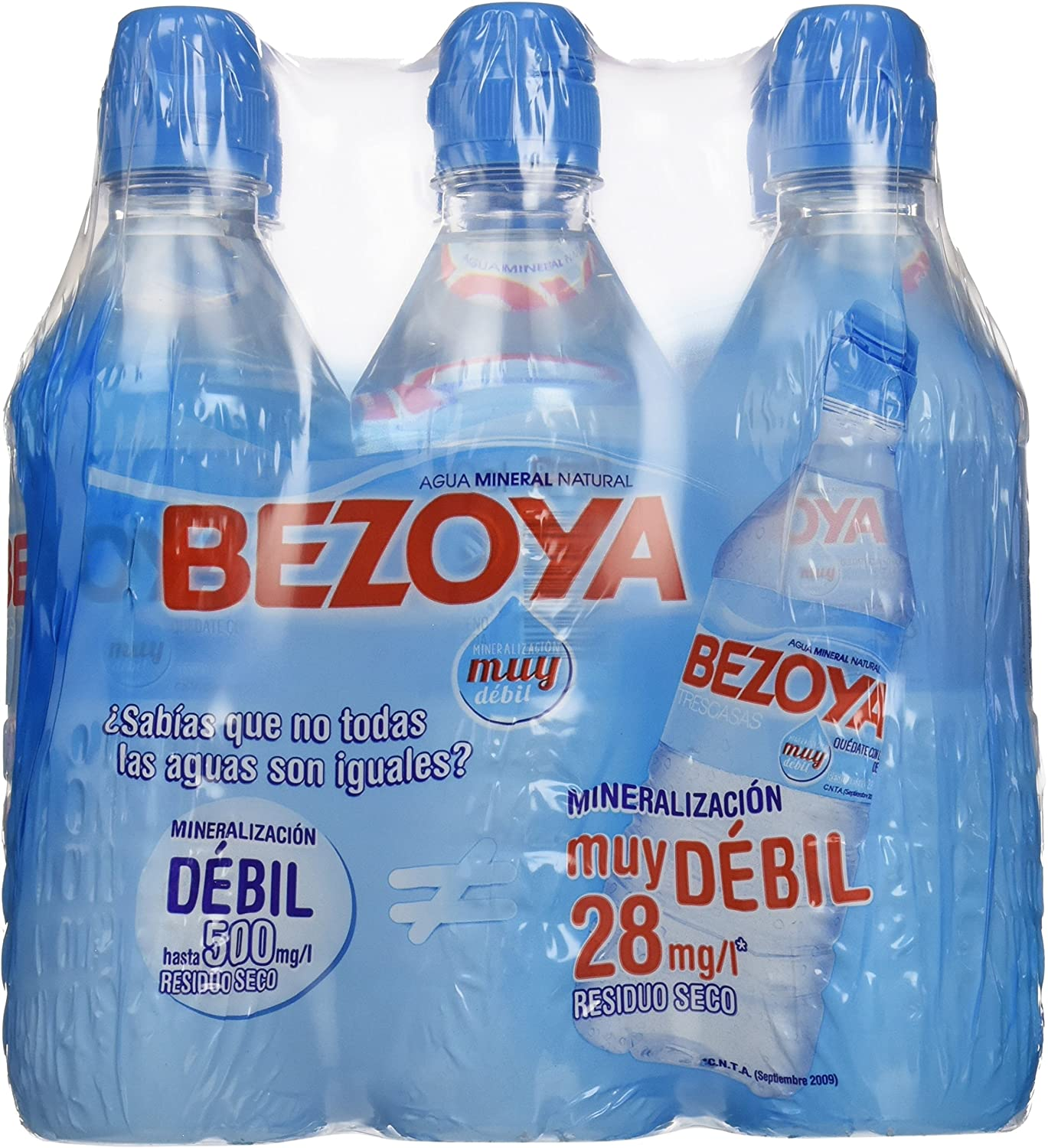 Bezoya Agua - Paquete de 6 x 500 ml - Total: 3000 ml: Amazon.es: Amazon Pantry