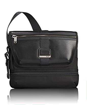 2d513b1ef567 Amazon.com  TUMI - Alpha Bravo Travis Crossbody Bag - Messenger Bag for Men  and Women - Black
