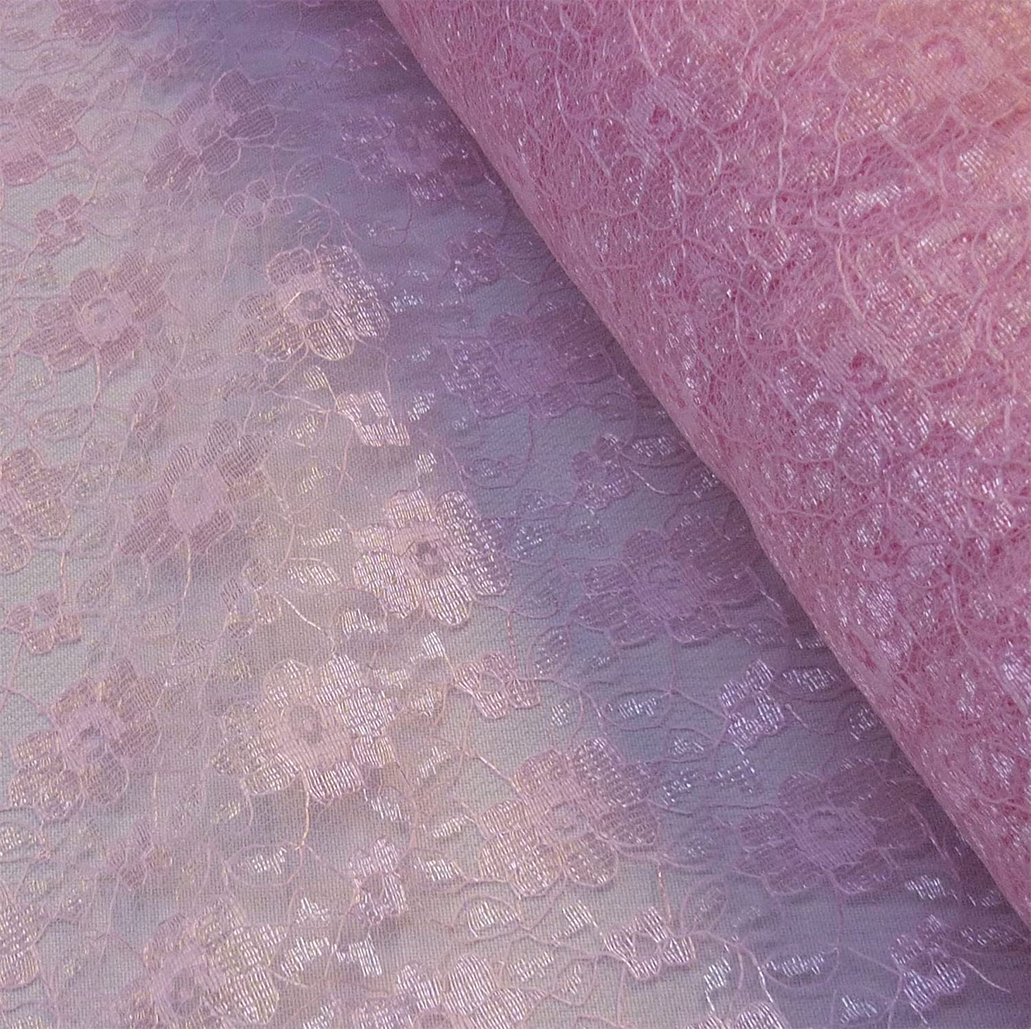 Baby Pink Budget Flower Lace Fabric (Per Metre) by Nortex Mill   B00EOELFQ6