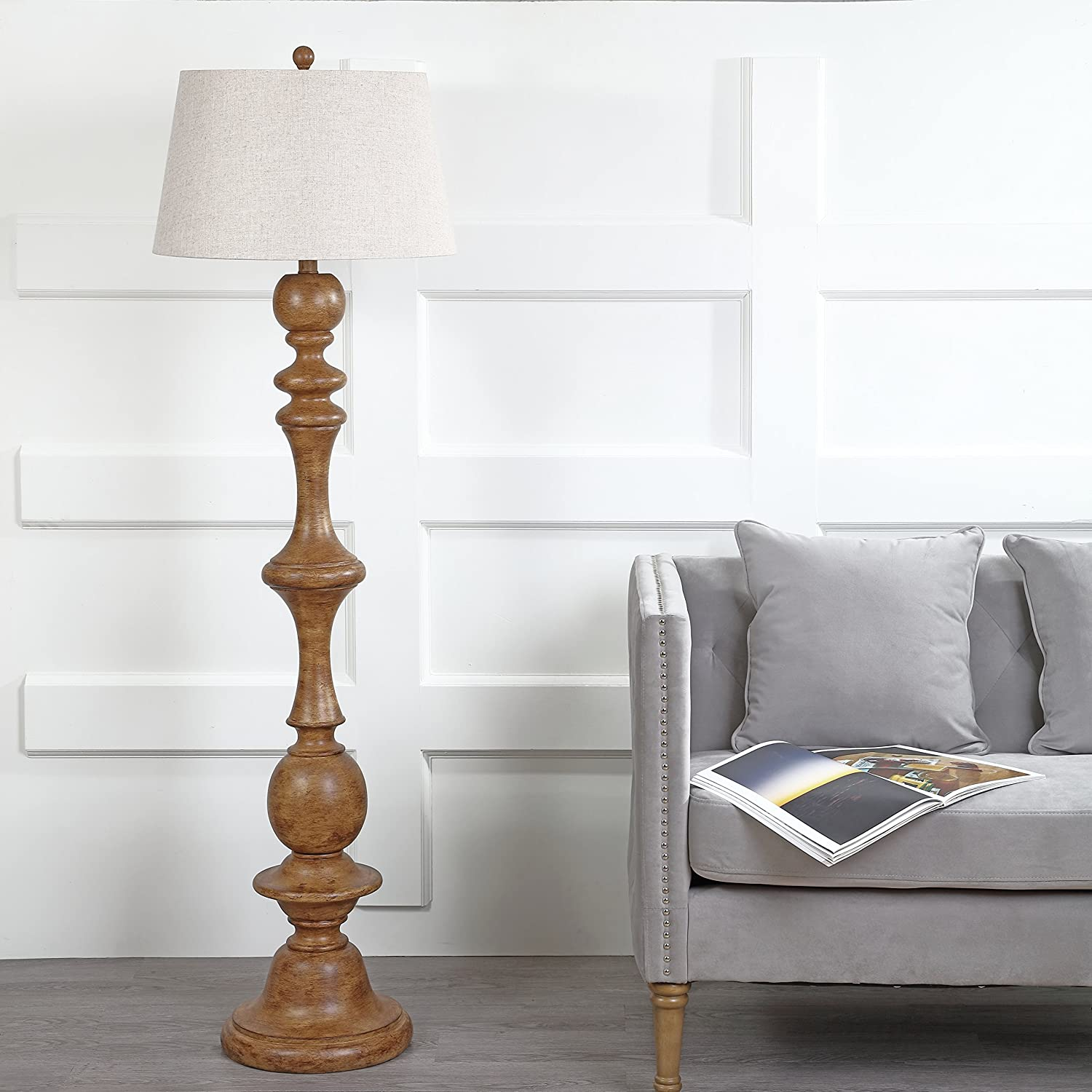 Jonathan Y Jyl3000a Taylor 67 Resin Led Floor Lamp Cottage