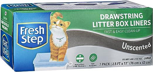 Fresh Step - Forro para caja de arena sin perfume, tamaño grande, 76 x 43 cm, 7 unidades: Amazon.es: Productos para mascotas