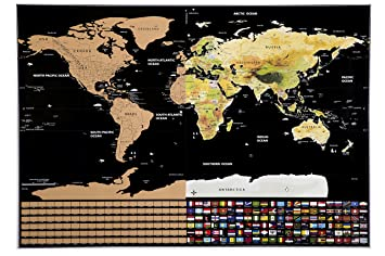 Scratch map deluxe edition track your adventures personalised scratch map deluxe edition track your adventures personalised world map poster travel gift gumiabroncs Images