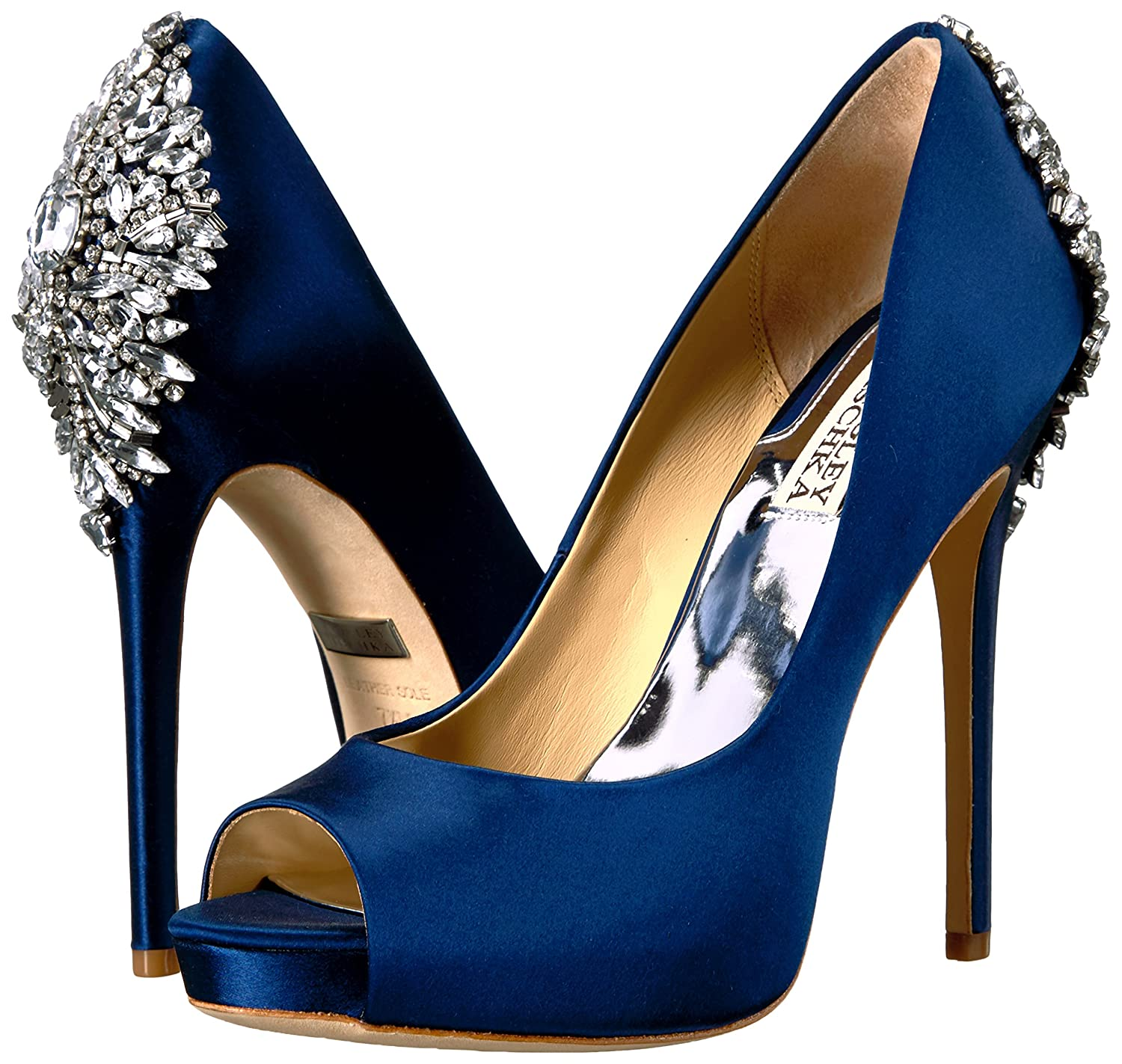Badgley Mischka Women's Kiara Dress Pump B01N2NIGSX 7.5 B(M) US|Navy