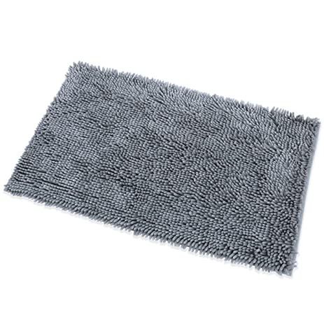 DocBear Microfiber Bath Mat Chenille Luxury Bathroom Rugs Carpet Non Slip  Bathroom Mats,Soft U0026