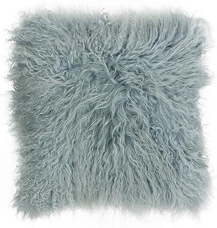 Mongolian Lamb Pillow Purple Sheepskin Fur cushion New made in  USA