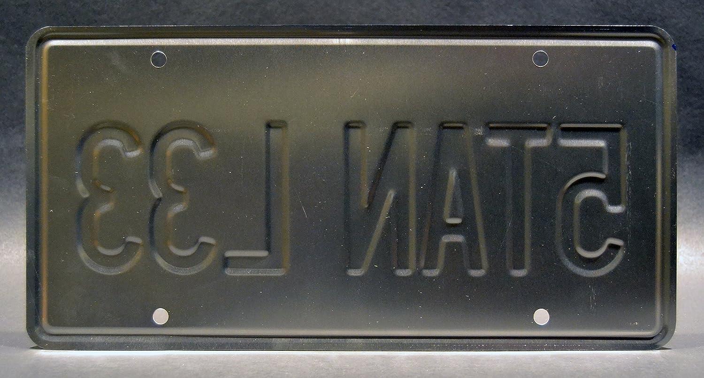 5TAN L33/ Stan Lee Cameo Metal Stamped Vanity Prop Targa Celebrity Machines Marvel The Defenders