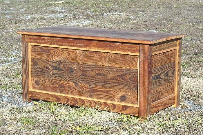 new product 95cc9 79360 Amazon.com: Barn Wood Hope/Blanket Chest/Coffee Table: Handmade