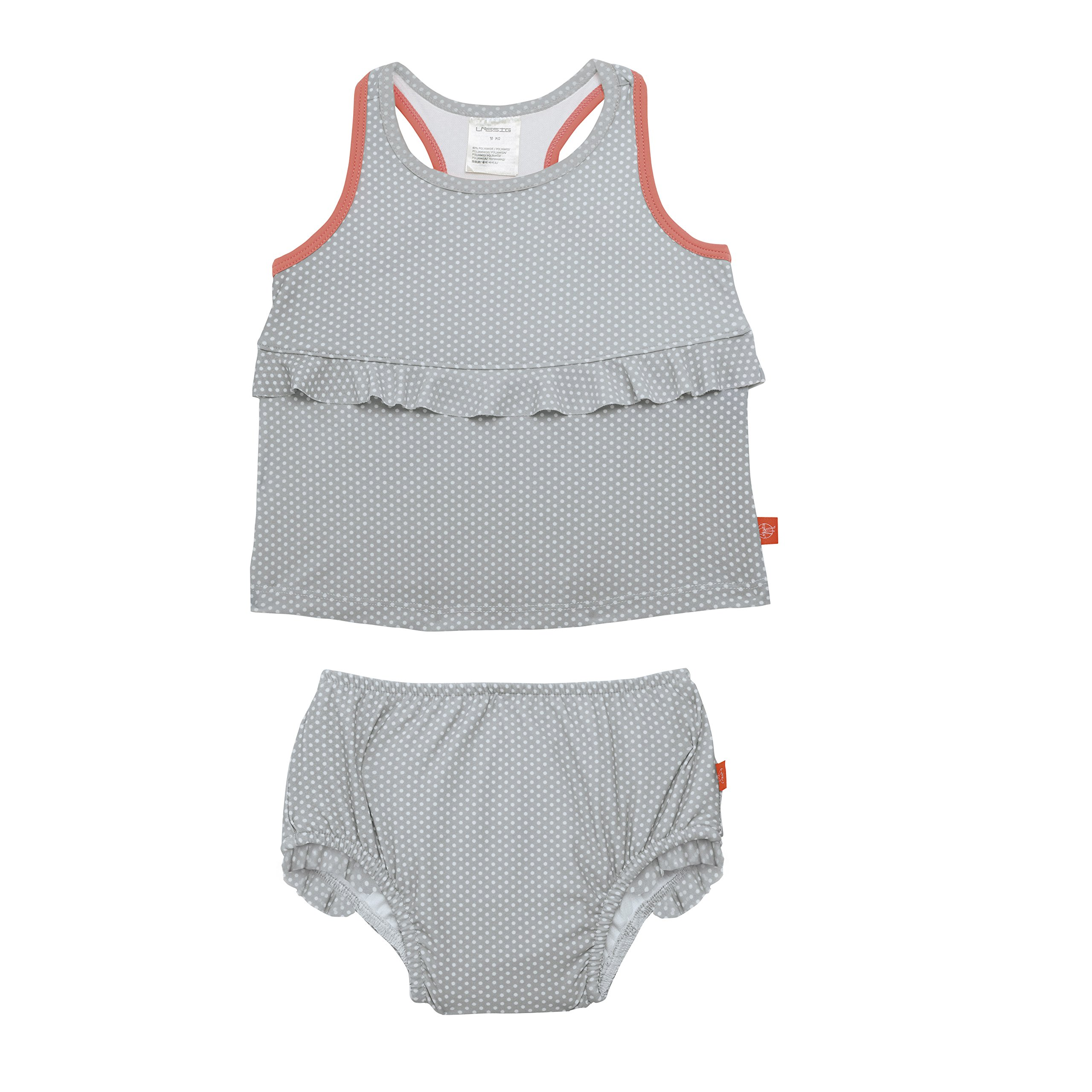 Lassig 2pc Tankini Set - Polka Dots Grey 3 yrs. by Lassig